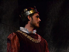 Henry V di W. Shakespeare on stage